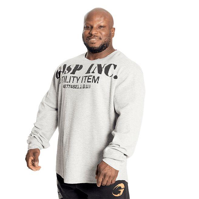 Gasp Thermal Gym Sweater, Grey Melange