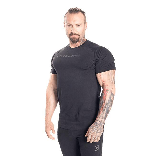 Gym Tapered Tee, Black/Black, S