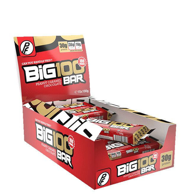 15 x Big 100 Protein Bar 1x100g Peanøtt Karamell Sjokolade