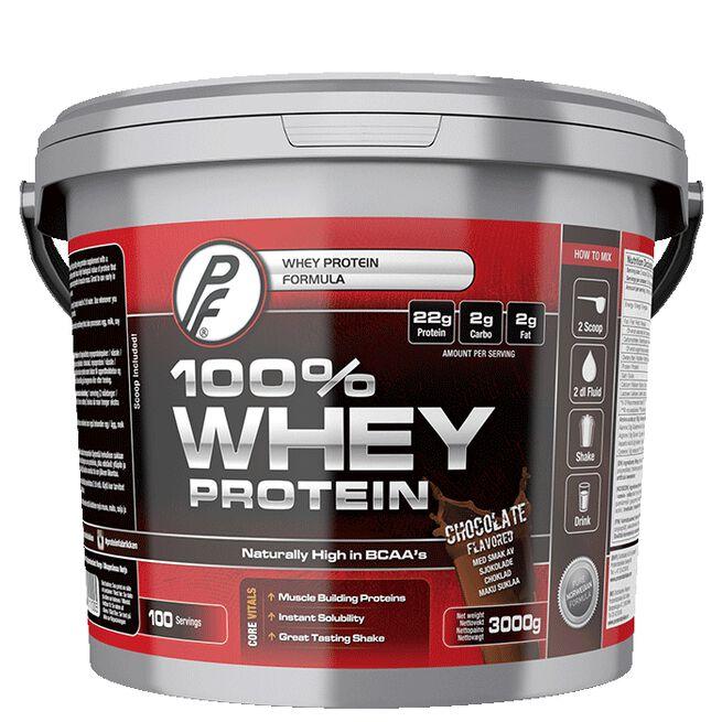 100% Whey Protein 3000g Sjokolade