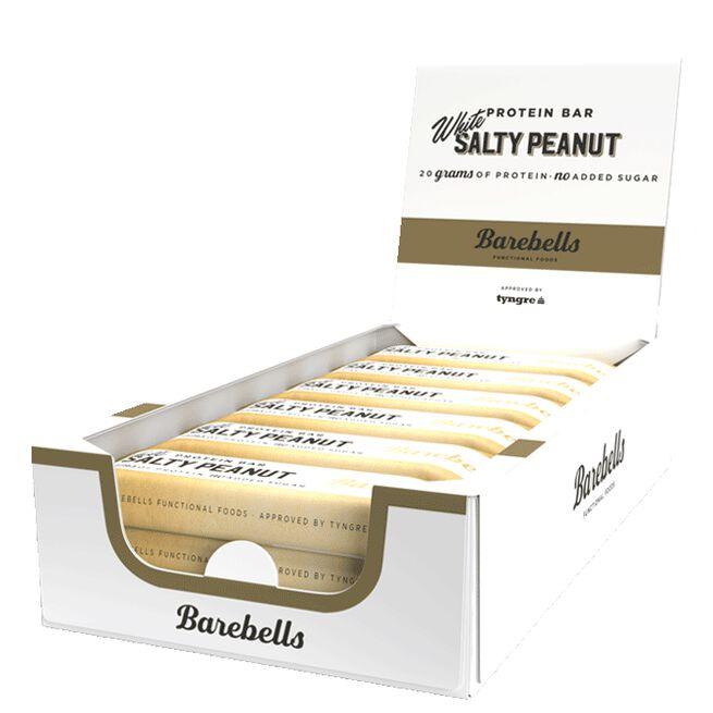 12 x Barebells Protein Bar, 55 g, White Salty Peanut