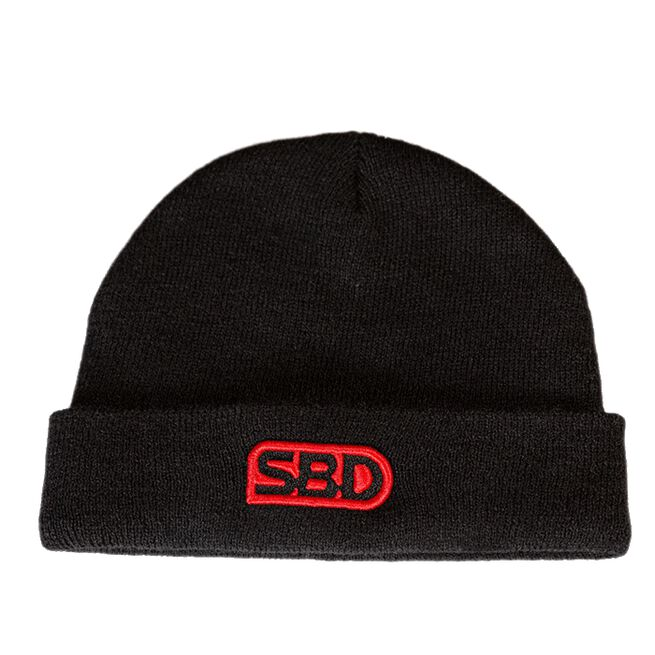 SBD Beanie, Black w/Red