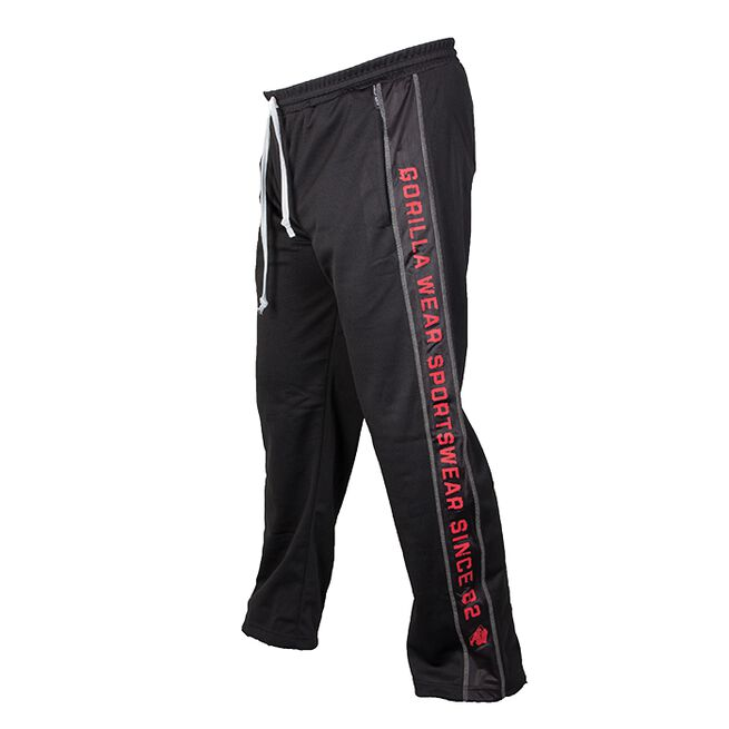 Functional Mesh Pants, Black/Red, L/XL