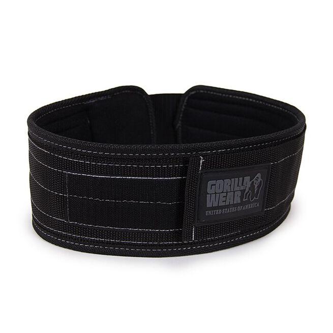 4 Inch Nylon Belt, black - L/XL