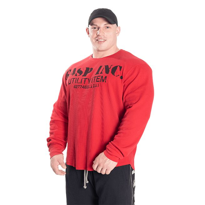 Gasp Thermal Gym Sweater, Chili Red