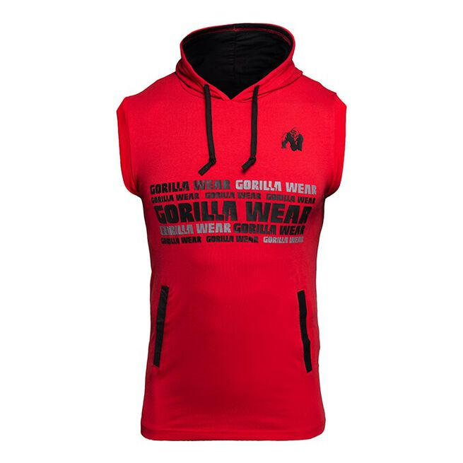 Melbourne SL Hooded T-Shirt, Red, XL