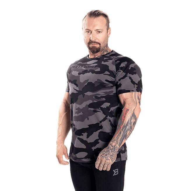 Gym Tapered Tee, Dark Camo, S