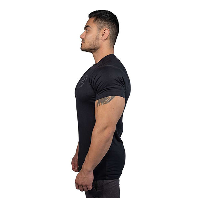 Better Bodies Gym Tapered Tee, Black