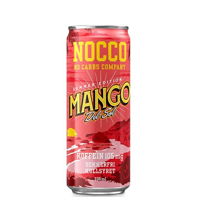 NOCCO BCAA, 330 ml, Mango del Sol, Norge